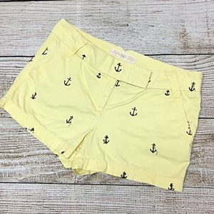 Women's J Crew Preppy Anchor Chino Shorts Sz 6